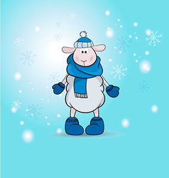 Frozen sheep vector