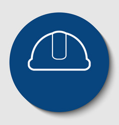 hardhat sign white contour icon in dark vector image