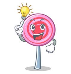 have an idea cute lollipop character cartoon vector image