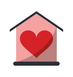 house love heart beauitful card vector image