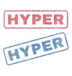 Hyper textile stamps vector