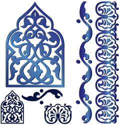 islamic design elements vector image vector image