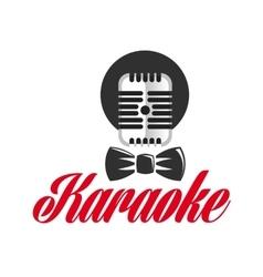 Logo pattern karaoke vector