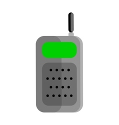 Mobile radio in flat design vector