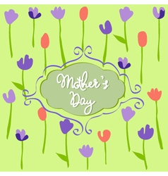 Mothers Day floral pattern with tulips vector image