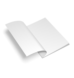 Opened White Book Template vector image
