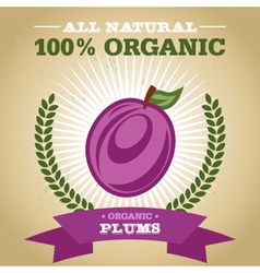 Organic plum vector