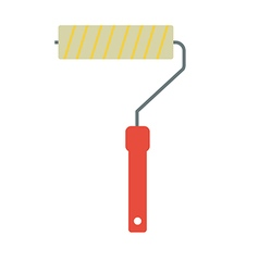 Paint roller vector image vector image