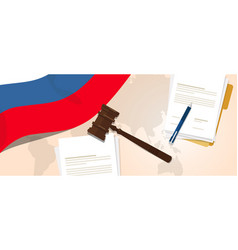 russia law constitution legal judgment justice vector image
