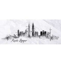 Silhouette ink Kuala Lumpur vector image vector image
