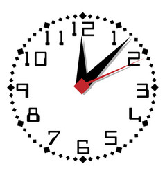simple black and white clock thirty-first edition vector image