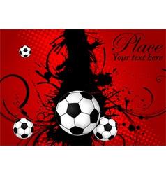 soccer ball theme vector image vector image