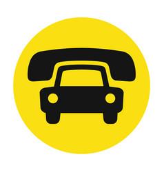 taxi cab service icon vector image
