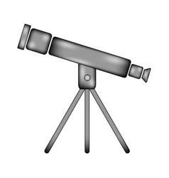 Telescope sign icon vector