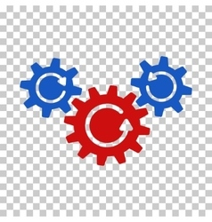 Transmission wheels rotation icon vector
