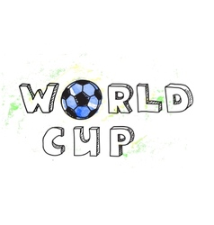 World Cup football background vector image