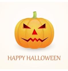 Halloween background with pumpkin vector image