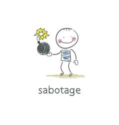 Sabotage vector image
