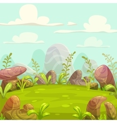 Cartoon nature landscape vector