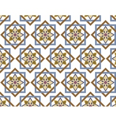 Abstract geometric style ornament pattern vector