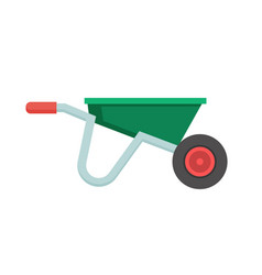 Garden wheelbarrow icon vector
