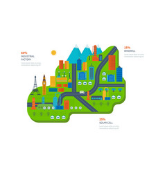 Eco-friendly technology infrastructure progress vector