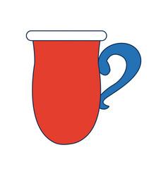 Coffee cup ceramic beverage icon vector
