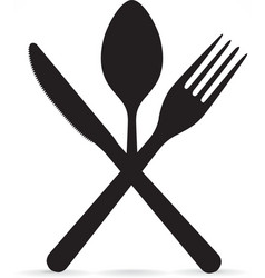 Crossed fork knife and spoon vector image