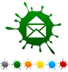 E-mail blot vector