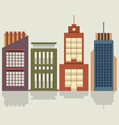 Set of city buildings vector