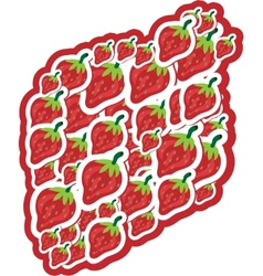 Strawberries on white background vector