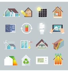 Energy saving house vector