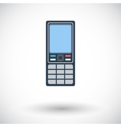 Phone single icon vector