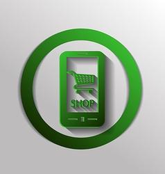 Shopping cart online store vector