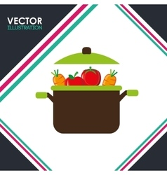 Vegetarian food design vector