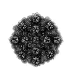 contour Mandala ethnic religious design element vector image
