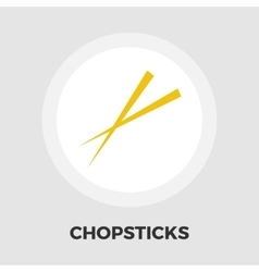 Chopsticks flat icon vector