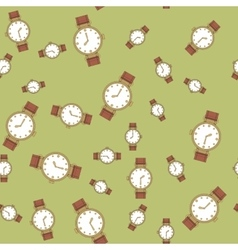 Seamless pattern with hand watches 570 vector