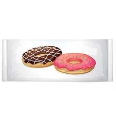 A pack of doughnuts vector image vector image