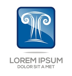 abstract law building vector image