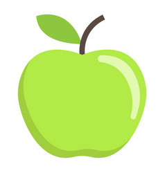 Apple flat icon fruit and diet graphics vector
