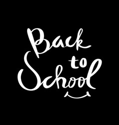 back to school lettering for poster vector image