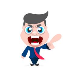 boss man character vector image