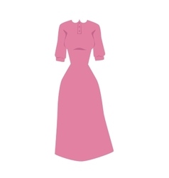 Bright pink hanger dress beauty and fashion women vector