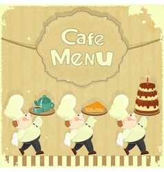 Cafe Menu Card in Retro style vector image