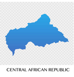 Central african republic map in africa continent vector