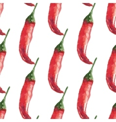Chilli Hand drawn watercolor painting on white vector image vector image
