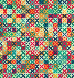 colored crosses seamless pattern with grunge vector image vector image