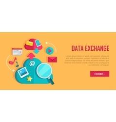 Data Exchange Banner vector image vector image