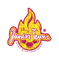 Emblem of soccer junior team vector